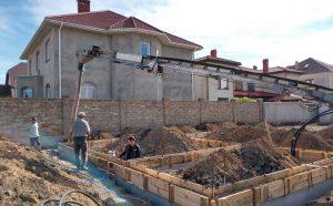 Проект: возведение фундамента коттеджа в Совиньоне